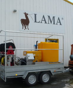 installation nettoyeur haute pression remorque Lama West Arc