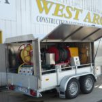 installation nettoyeur haute pression remorque inox Lama West Arc